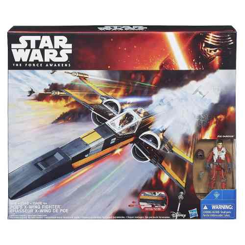 Star Wars Class III luxo Episódio VII X-Wing Fighter Hasbro  - Doce Diversão