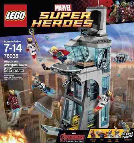 Lego 76038 - Marvel Heroes - Ataque A Torre Dos Vingadores  - Doce Diversão