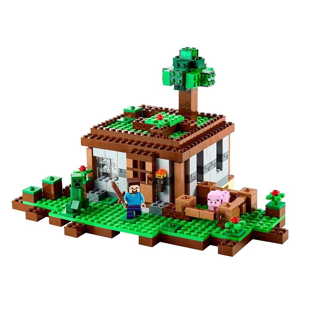 Lego 21115 Minecraft - A Primeira Noite - 408 Peças  - Doce Diversão