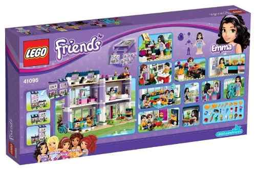Lego 41095 - Friends - Casa Da Emma - 706 peças  - Doce Diversão