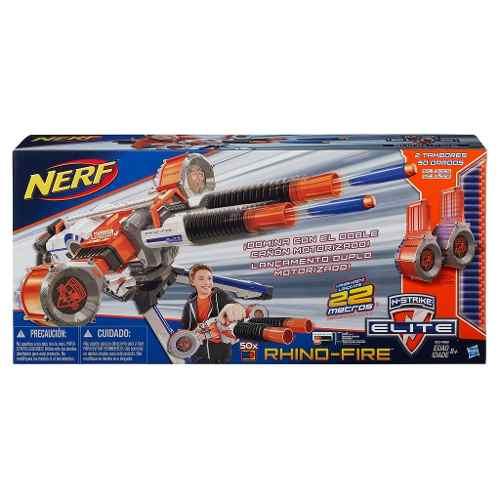 Nerf Elite N Strike Rhino Fire Motorizado C/50 Dardos Hasbro  - Doce Diversão