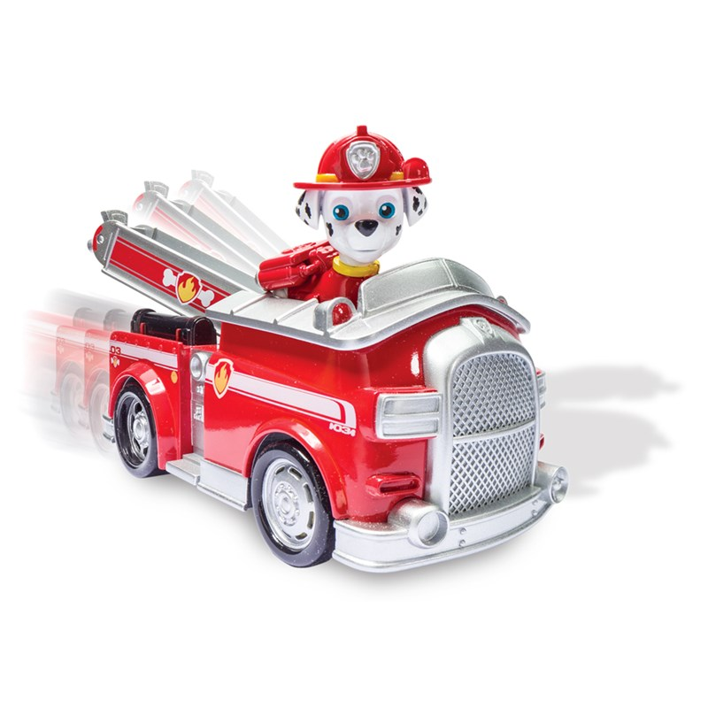 Patrulha Canina - Veiculo + Figura Marshalls Fire Luxo - Sunny  - Doce Diversão