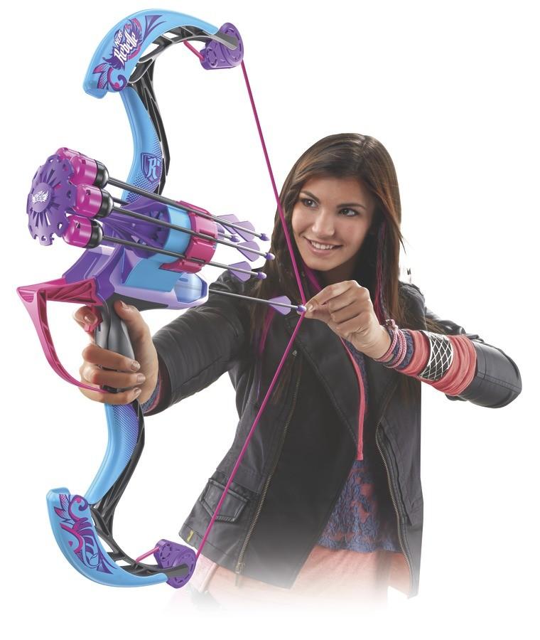 Nerf Rebelle Arco Autoquiver Bow Tambor giratório 6 Flechas Hasbro  - Doce Diversão