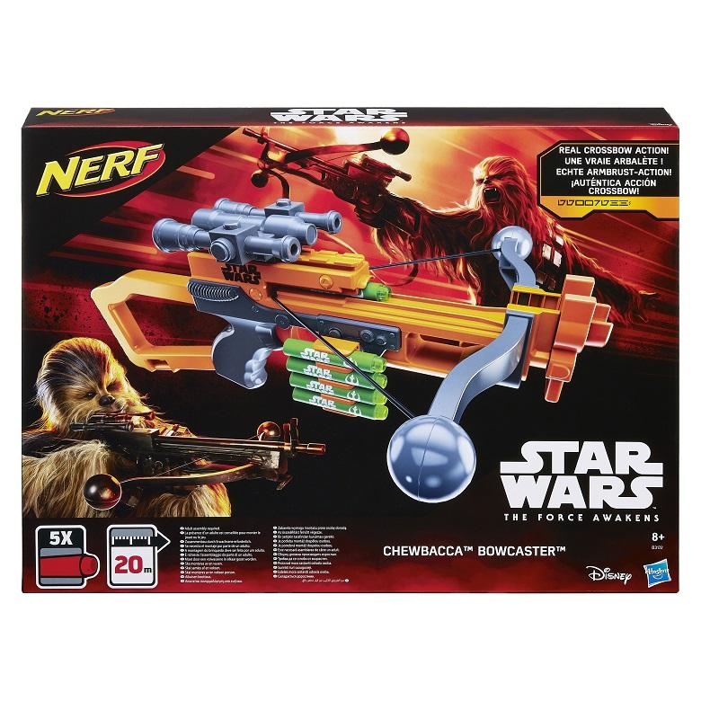 Lançador Nerf Crossbow Star Wars Chewbacca  - Bowcaster - Hasbro  - Doce Diversão