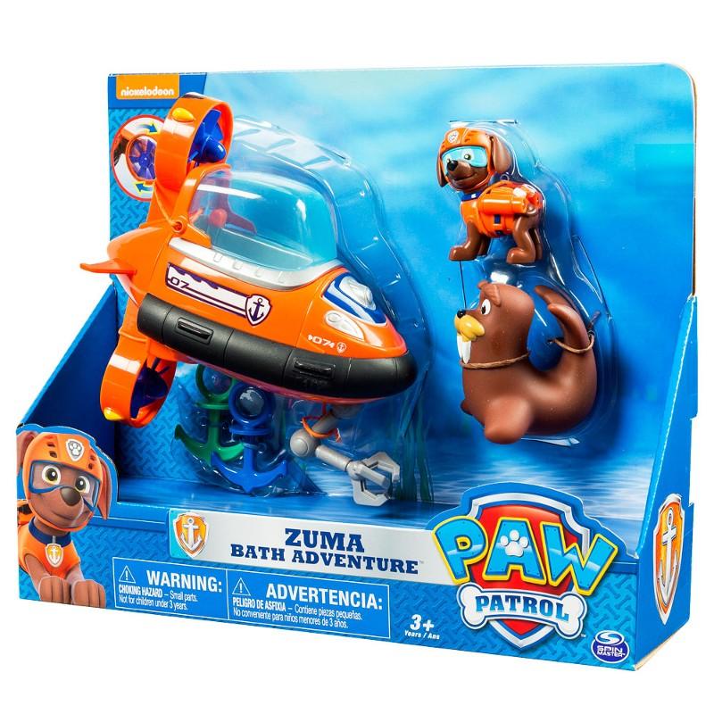Patrulha Canina - veiculo + figura  - Zuma Resgate Aquatico - Sunny  - Doce Diversão