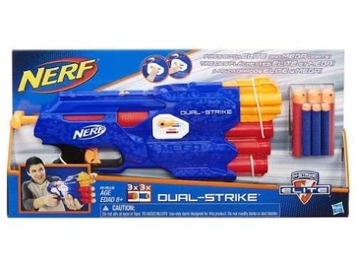 Lançador Nerf N Strike Elite Dual – 6 Dardos Elite/Mega - Hasbro  - Doce Diversão