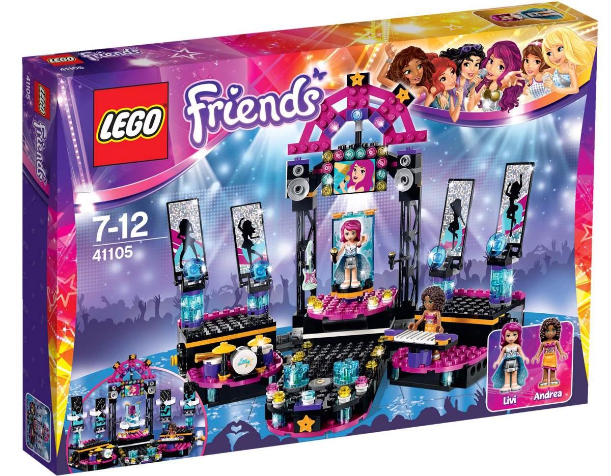 Lego 41105 - Friends - O Palco de Espetaculos Da Pop Star  - Doce Diversão