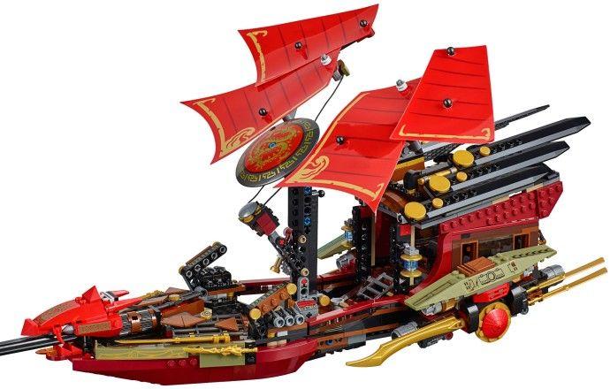 Lego 70738 - Ninjago -  Voo Final Do Barco Do Destino- 1253 peças  - Doce Diversão
