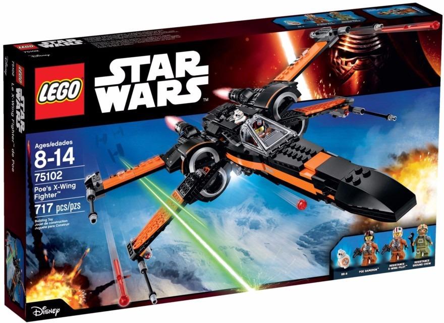 Lego 75102- Star Wars X-Wing Fighter do Poe 717 peças  - Doce Diversão