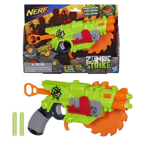 Nerf Strike Zombie lançador Crosscut – Serra Giratoria – Hasbro  - Doce Diversão