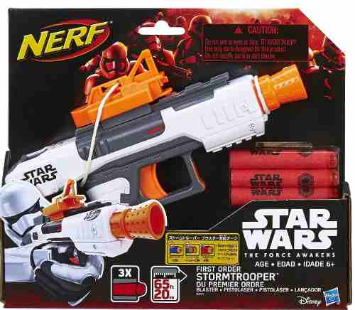 Lançador Nerf First Order Stormtrooper Star Wars EP VII  Hasbro  - Doce Diversão