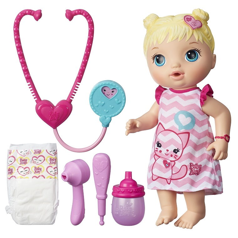 Boneca Baby Alive Cuida de Mim Loira - Hasbro  - Doce Diversão