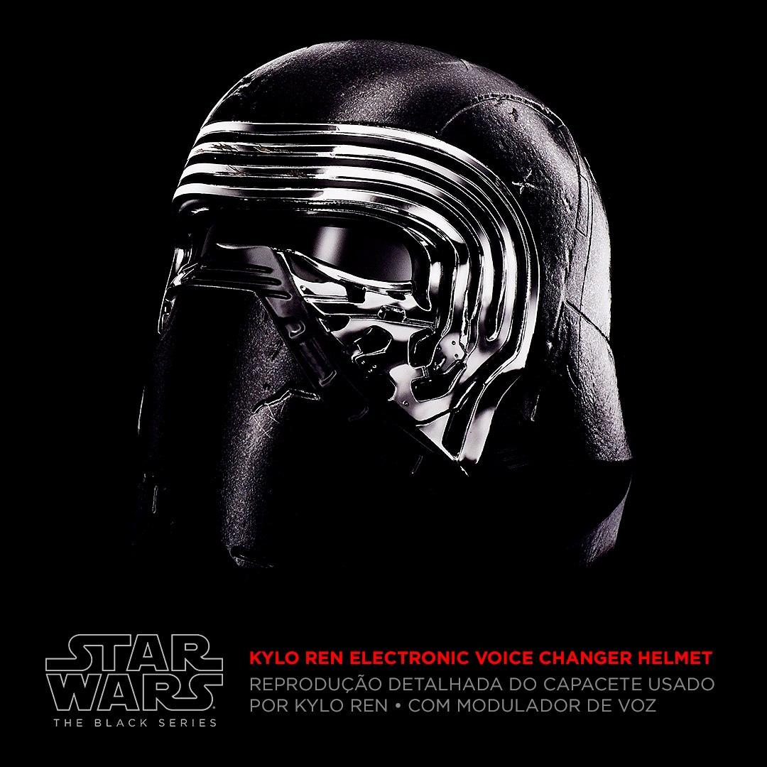 Star Wars Capacete Eletronico Black Kylo Ren - Muda Voz- Hasbro  - Doce Diversão