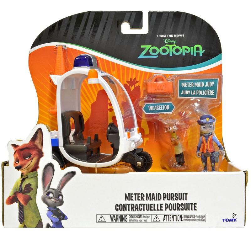 Zootopia - Disney - Veiculo + 2 personagens policial Judy - Sunny  - Doce Diversão