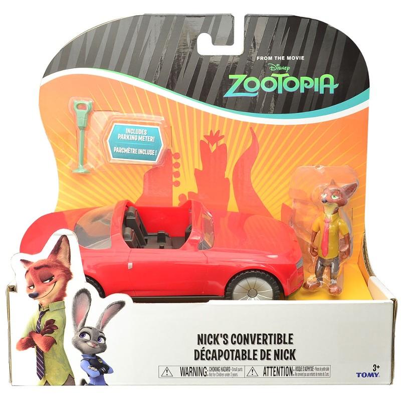 Zootopia - Disney -  Veiculo + Personagem- Conversível do NIck - Sunny  - Doce Diversão