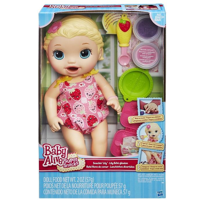 Boneca Baby Alive Lanchinhos Divertidos Loira - Hasbro  - Doce Diversão