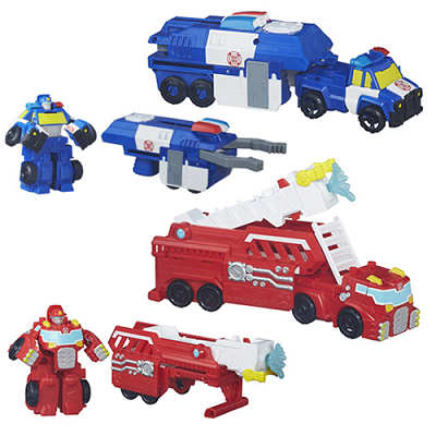 Transformers Playskool Rescue Bots Chase Police 3 em 1 – Hasbro  - Doce Diversão