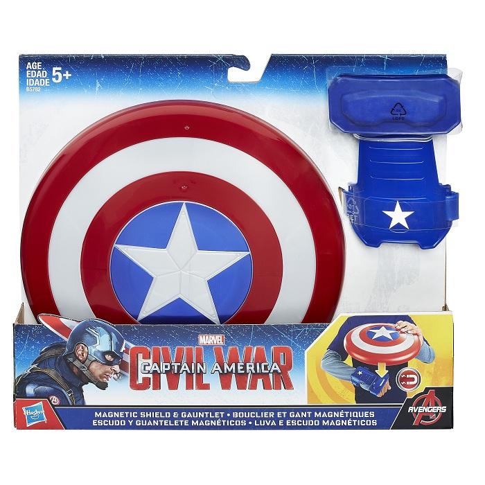 Escudo e Luva magnéticos Capitão America Guerra Civil – Hasbro  - Doce Diversão
