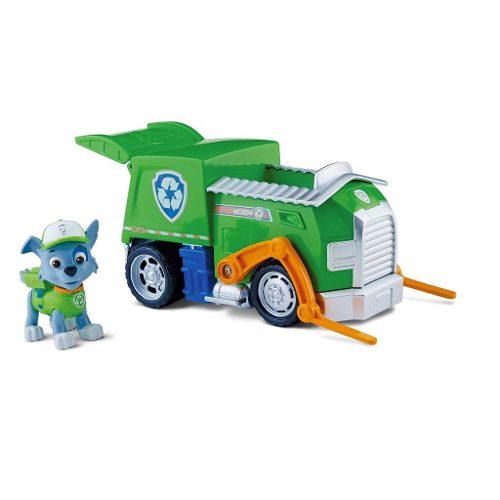 Patrulha Canina Veiculo C Figura – Rockys Recycling Truck - Sunny  - Doce Diversão