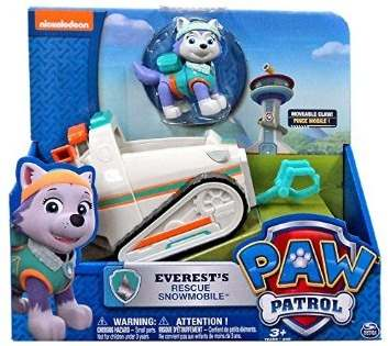Patrulha Canina Veiculo + Figura – Everests Rescue Snowmobile - Sunny  - Doce Diversão