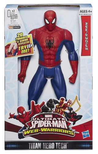 Boneco Titan Hero Eletrônico Som Spider Man - Hasbro  - Doce Diversão
