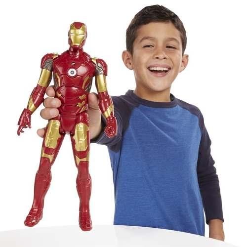 Boneco Homem de Ferro Eletronico fala Portugues - Hasbro  - Doce Diversão