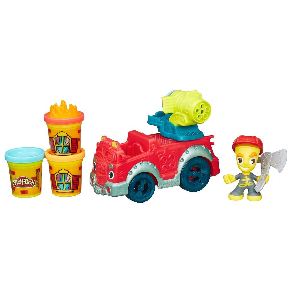 Play Doh Town kit Carro Caminhão de Bombeiros - Hasbro  - Doce Diversão