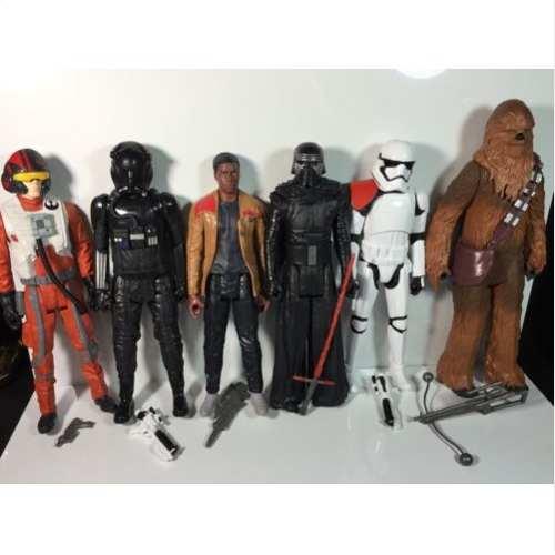 Bonecos 30 cm Star Wars Ep VII Heroes Series pack C/6 Hasbro  - Doce Diversão