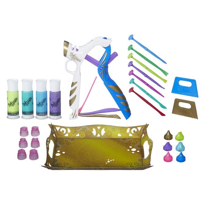 Play Doh Vinci Kit Styler Top Platinum + 20 acessorios - Hasbro  - Doce Diversão