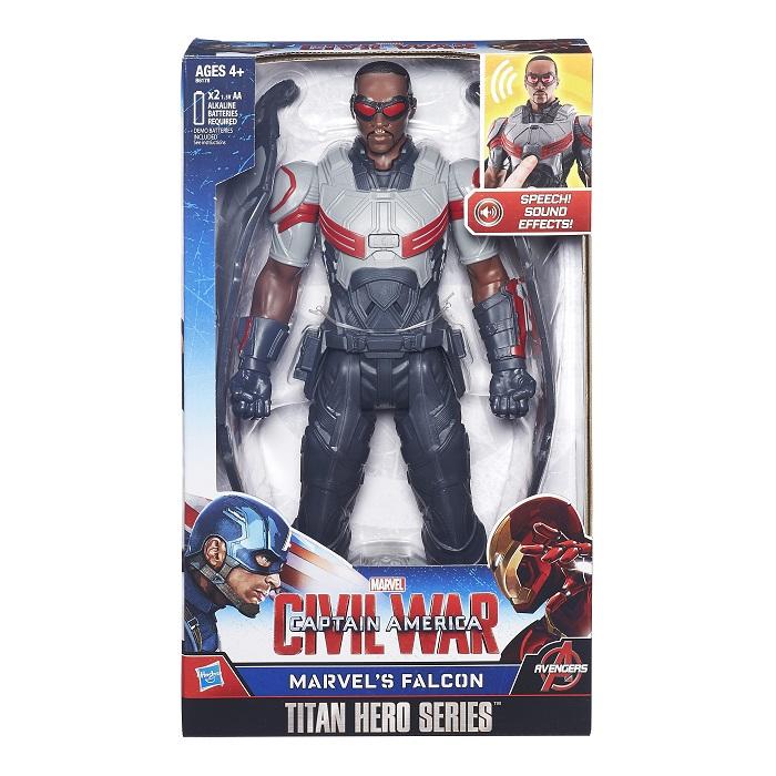 Capitão America Guerra Civil Falcão Negro eletronicoHasbro  - Doce Diversão
