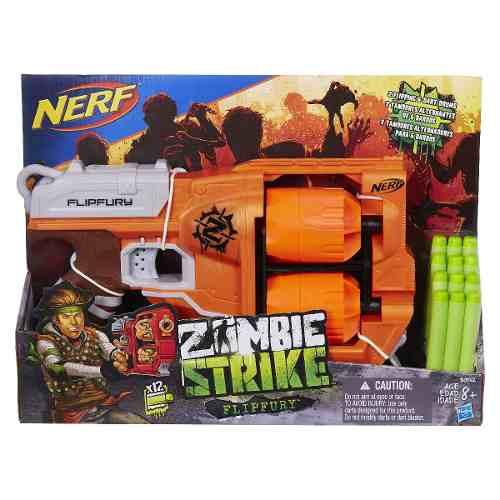 Nerf Strike Zombie Dirtydozen - Flipfury 12 Dardos - Hasbro  - Doce Diversão