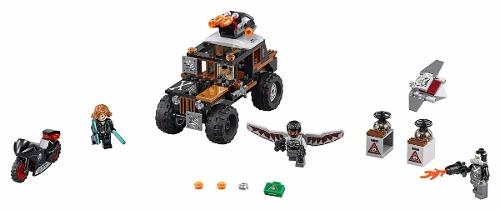 Lego 76050 Vingadores Guerra Civil Assalto Ossos Cruzados  - Doce Diversão