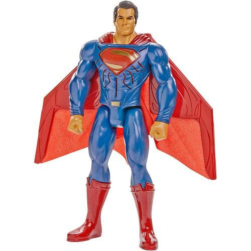 Batman VS Superman – Superman Eletronico Som e Luz 30cm - Mattel  - Doce Diversão