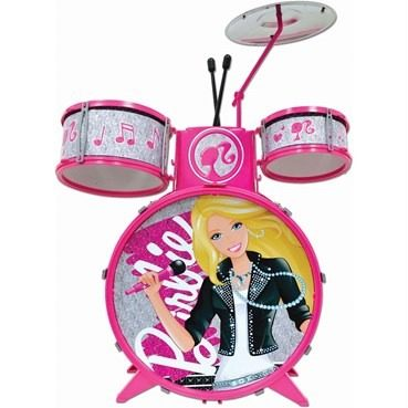 Bateria Musical Infantil  Barbie - Fun  - Doce Diversão