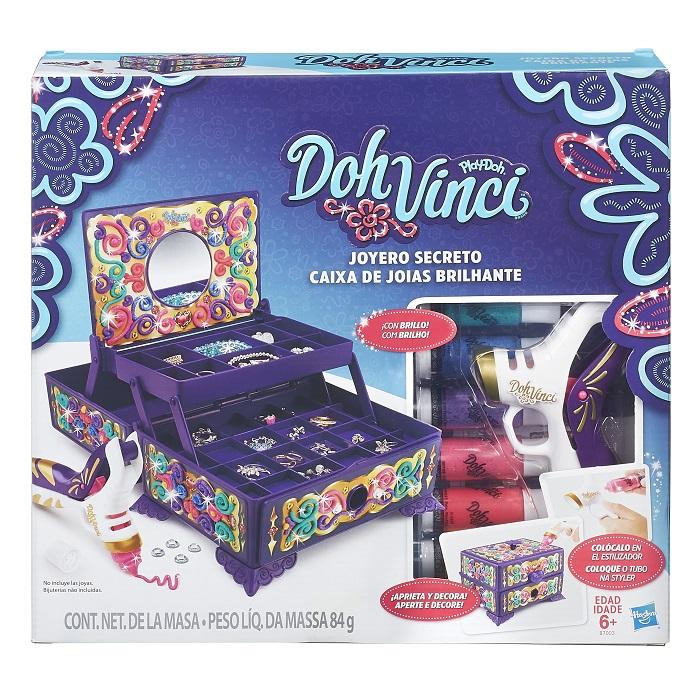 Play Doh Vinci Styler Caixa de Jóias Brilhante - Hasbro  - Doce Diversão