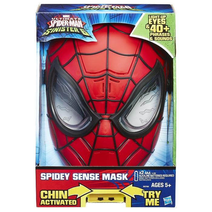 Mascara Eletronica Spiderman Sinister - Luz e 40 Sons Portugues– Hasbro  - Doce Diversão