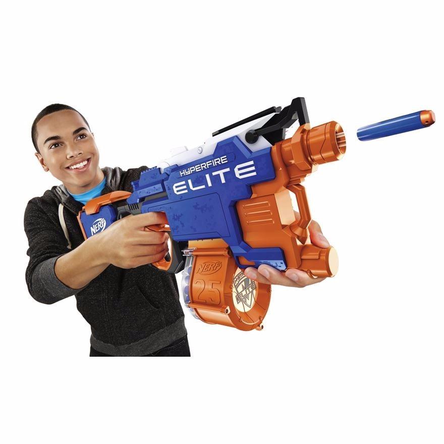 Lançador Nerf  Strike Elite Motor Hyperfire  Hasbro  - Doce Diversão