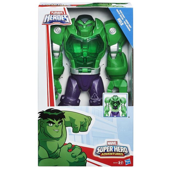 Playskool  Heroes  hulk  mega armadura 30 cm - hasbro  - Doce Diversão