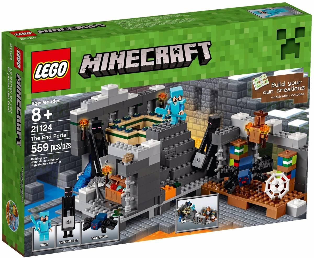 Lego 21124 - Minecraft  O Portal do Fim – 559 peças  - Doce Diversão
