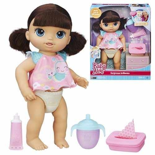 Boneca Baby Alive Fraldinha Mágica Morena - Hasbro  - Doce Diversão