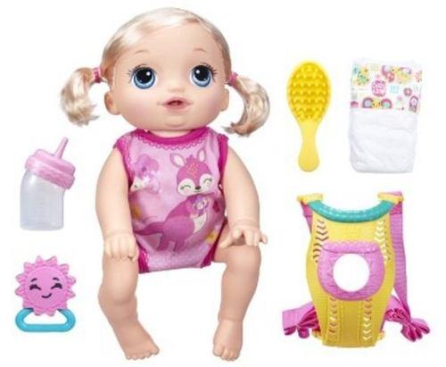 Boneca Baby Alive Hora do Passeio Engatinha Loira - Hasbro  - Doce Diversão