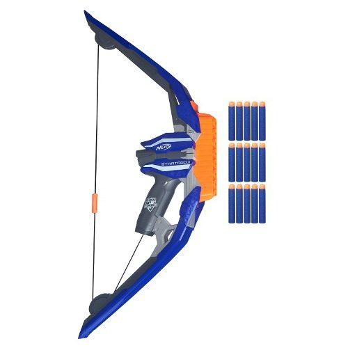 Nerf N Strike Elite  Stratobow Arco  - 15 dardos - Hasbro  - Doce Diversão