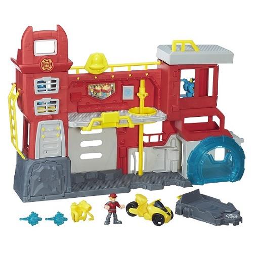 Playskool Transformers Rescue Bots Quartel Bombeiros Hasbro  - Doce Diversão