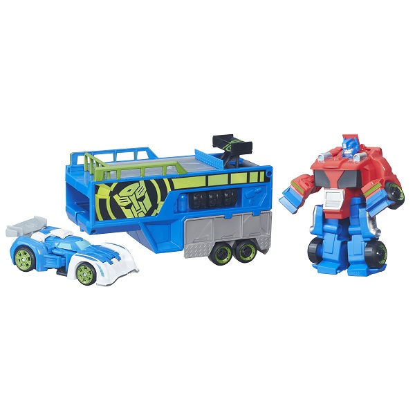 Transformers Playskool Rescue Bots Trailer Corrida Optimus  – Hasbro  - Doce Diversão