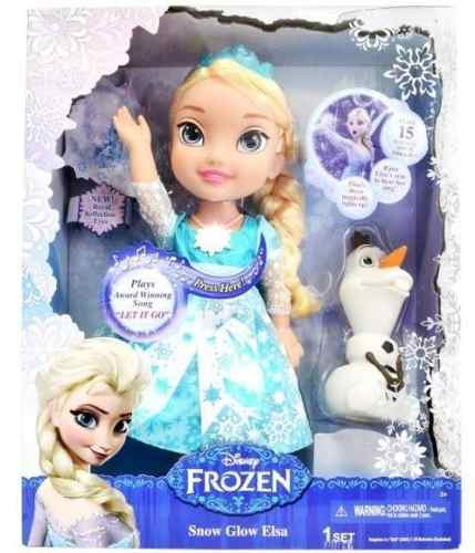 Disney Frozen Elsa Neve Brilhante Luxo Cantora 37cm - Sunny  - Doce Diversão