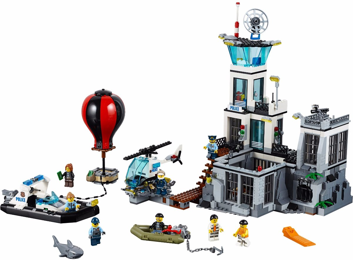 Lego 60130 – City Police – Quartel Ilha da Prisão - 754 pç  - Doce Diversão