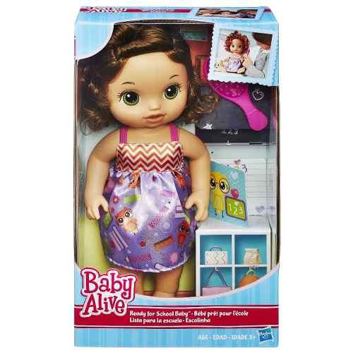 Boneca Baby Alive Escolinha Morena  - Hasbro  - Doce Diversão
