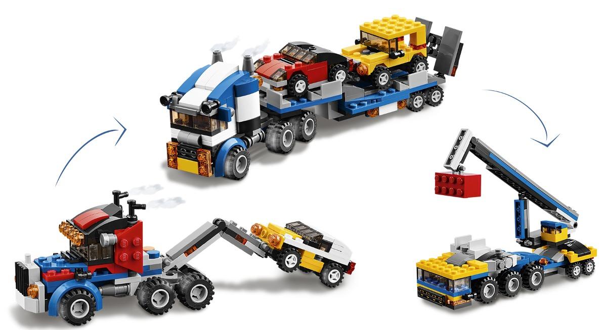 Lego 31033 - Creator  - Transportador de Veículos 3 em 1 – 264 pç  - Doce Diversão