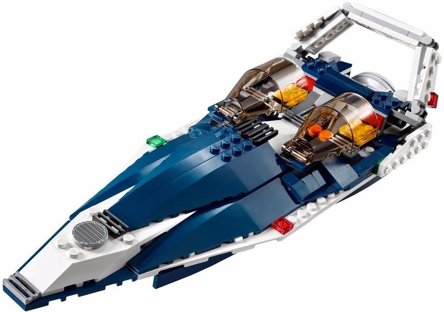 LEGO 31039 -  Creator - Avião a Jato Azul - 3 em 1 – 608pç  - Doce Diversão
