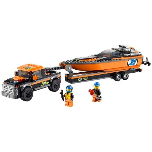 Lego 60085 - City  - Jipe 4x4 com Barco a Motor    - Doce Diversão
